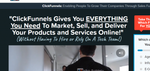 clickfunnels homepage pic